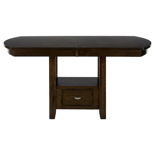 Jofran Mirandela Birch Dining/Counter Height Table with Storage Base