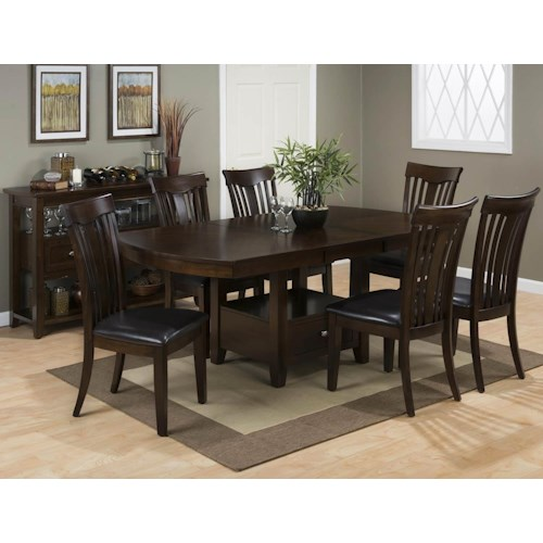 Jofran Tavia 5PC Dining Table & Chair Set