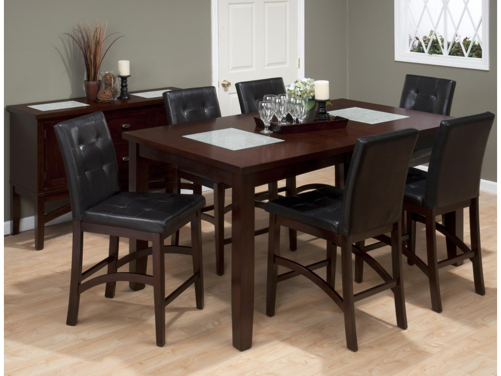 Shown with Coordinating Collection Upholstered Pub Chairs and Table