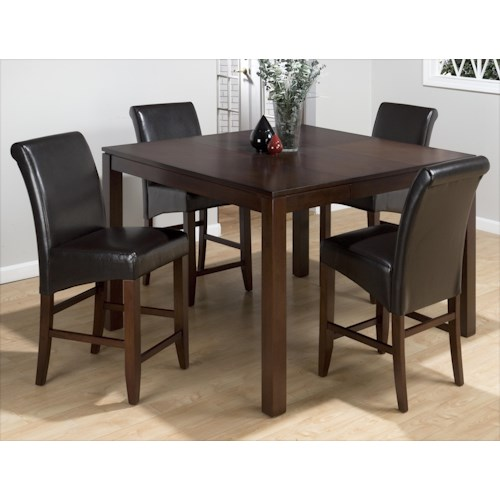 Jofran Carlsbad Cherry Five Piece Pub/Gathering Table and Chair Set