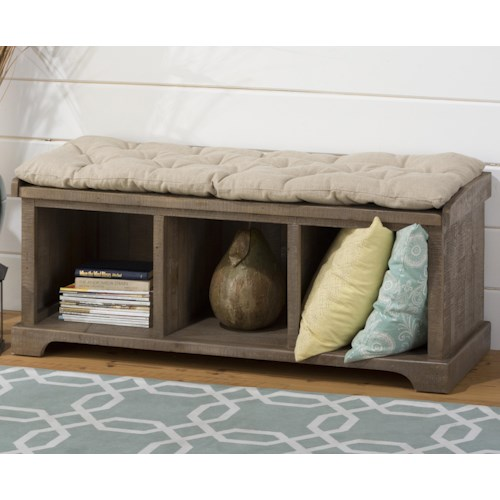 Jofran Slater Mill Pine Reclaimed Solid Pine Wood Storage Bench