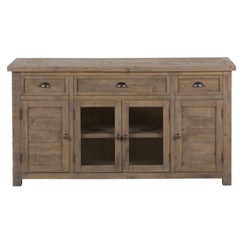 "Jofran Slater Mill Pine 60"" Reclaimed Wood Media Unit for TV"