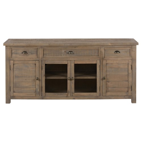 "Jofran Slater Mill Pine 70"" Reclaimed Wood Media Unit for TV"