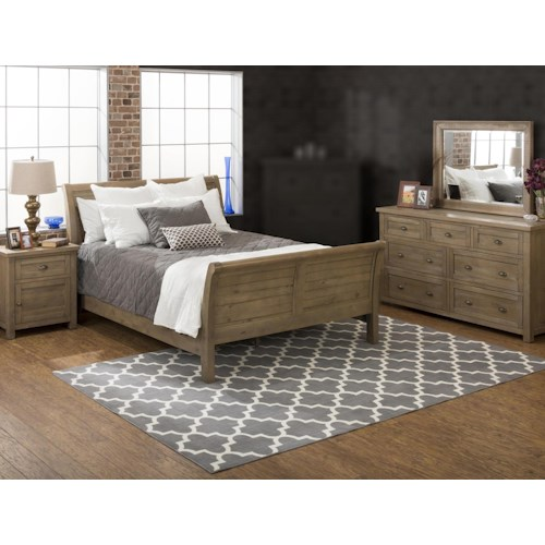 Jofran Bancroft Mills 4PC Queen Bedroom Set