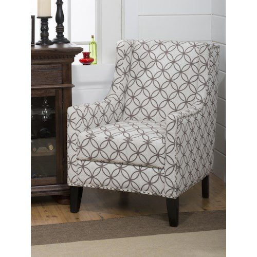 Jofran Upholstered Accent Chairs Blake Accent Chair with Trasitional Style