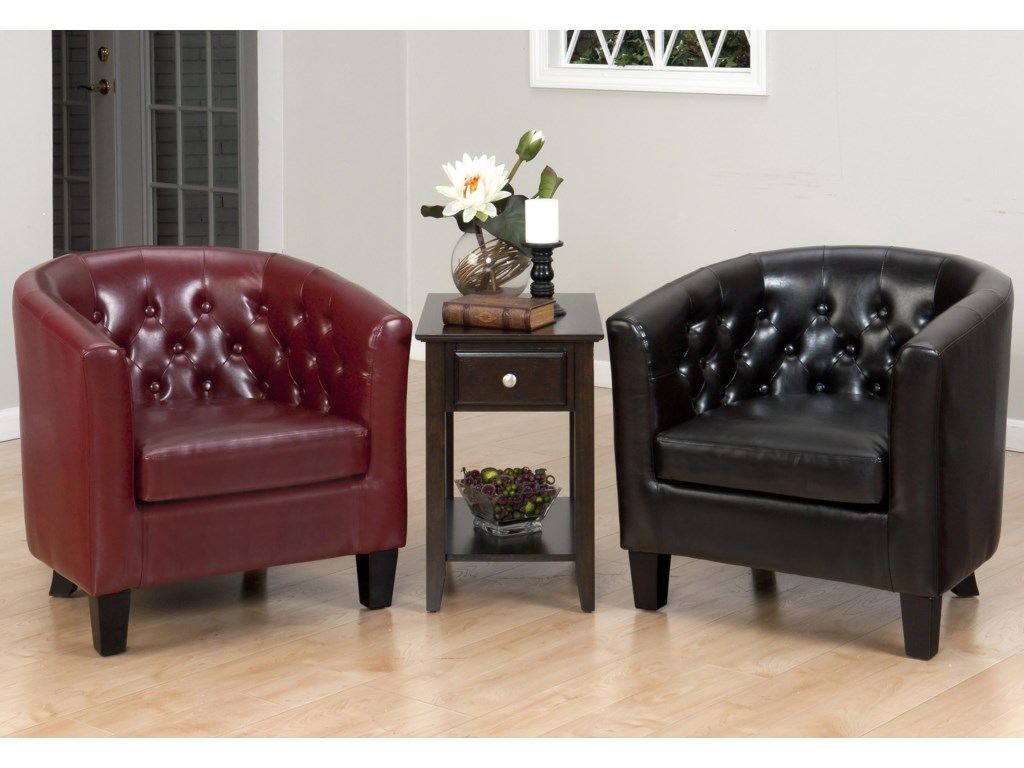 Shown with Matching Chair in Chestnut Upholstery