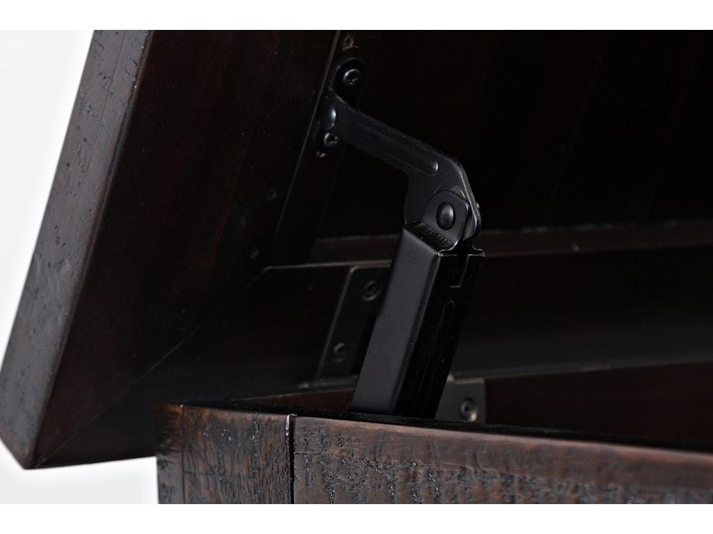 Bench Top Hinge Detail Shot