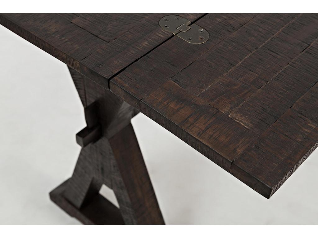 Table Top Detail Shot (drop-leaf expanded)