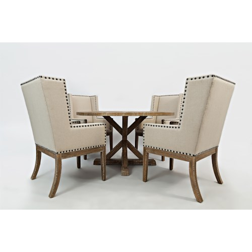 Morris Home Furnishings Pacific Heights Round Dining Table and Chair Set