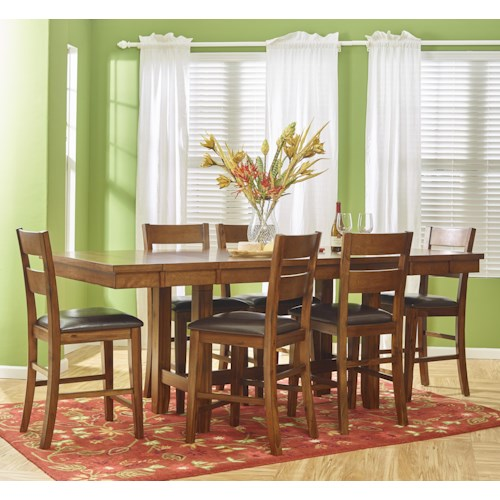 Jofran Plantation Counter Height Table and Chair Set