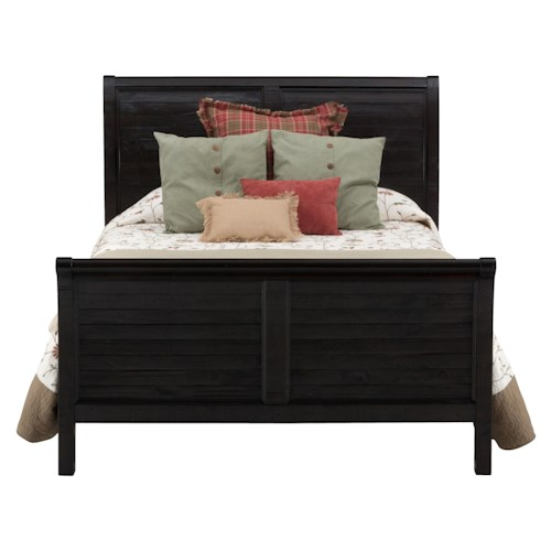 Jofran Prospect Creek Queen Sleigh Bed made of Reclaimed Pine