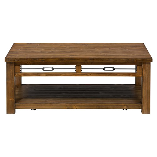Jofran San Marcos Rectangle Cocktail Table made with Solid Pine
