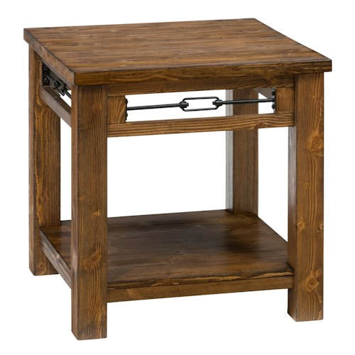 Jofran San Marcos Rectangle End Table made of Solid Pine