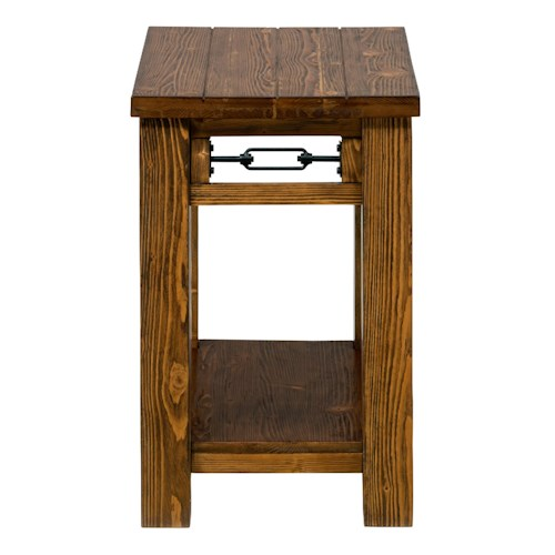 Jofran San Marcos Rectangle Chairside Table made of Solid Pine
