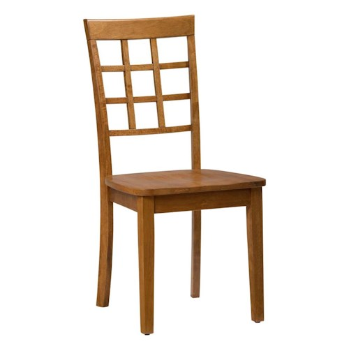 Jofran Simplicity Grid Back Side Chair for Table Set