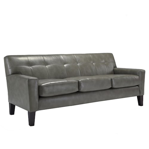 Best Home Furnishings Treynor Contemporary Sofa with Tufting and Track Arms