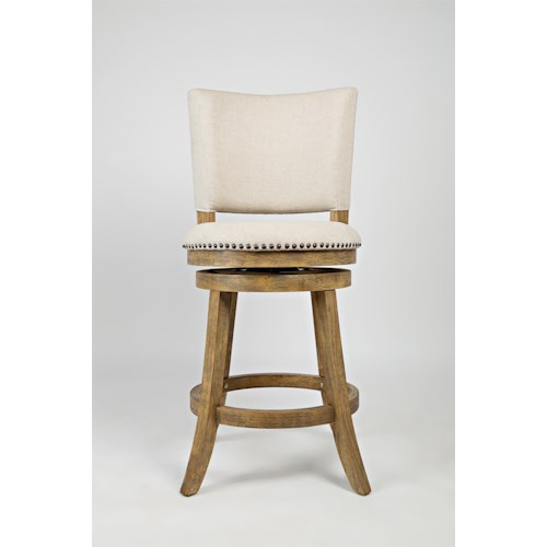 Jofran Turners Landing Turner's Landing St. James Upholstered Back Swivel Stool