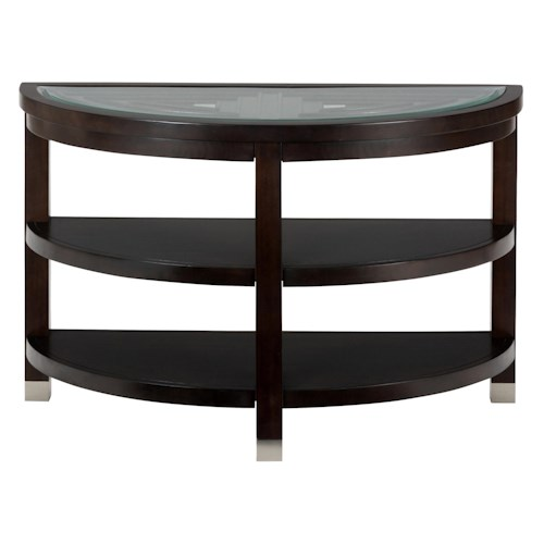 Jofran Warren Sofa Table with Glass Top