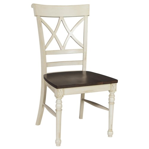 John Thomas Camden Cathedral Dining Side Chair with Two-Toned Finish