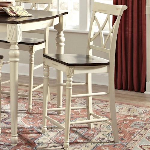 John Thomas Camden Cathedral Bar Stool with Two-Toned Finsh