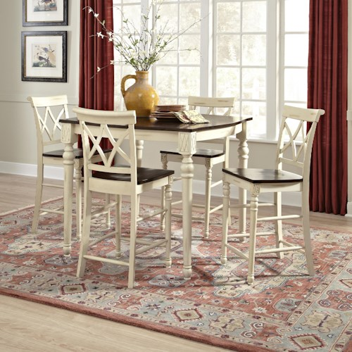 John Thomas Camden Square Counter Height Table Set and Stools