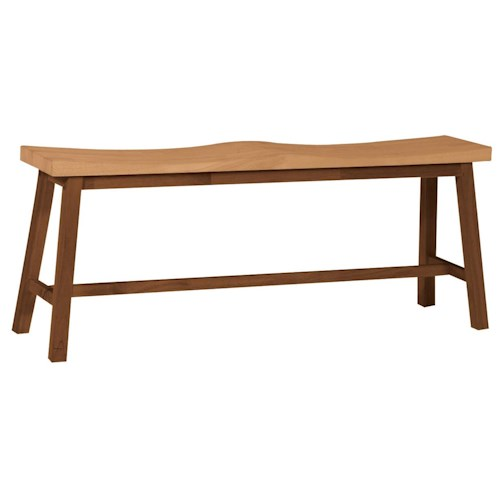 John Thomas Dining Essentials 2-Seat Saddle Dining Bench