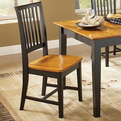 John Thomas Dining Essentials Slat Back Side Chair
