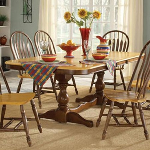 John Thomas Madison Park Double Pedestal Dining Table with Butterfly Leaf