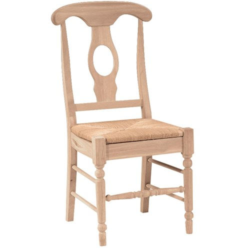 John Thomas SELECT Dining Empire Chair with Rush Seat