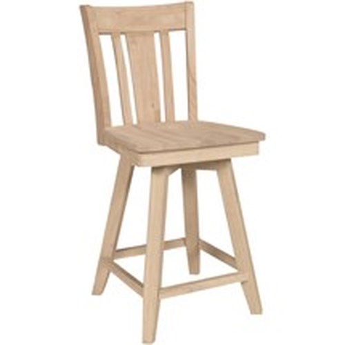 John Thomas SELECT Dining Contemporary Swivel Counter Height Stool