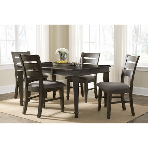 John Thomas SELECT Dining 5-Piece Table and Chair Set with Butterfly Leaf