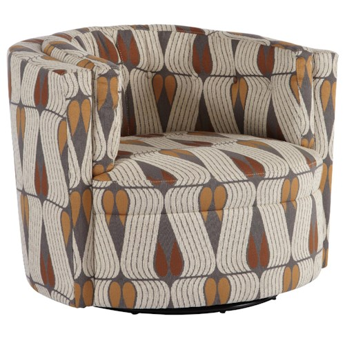 Jonathan Louis Mia Contemporary Swivel Chair with Track Arms
