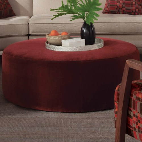 Jonathan Louis 103 Collection Contemporary Round Ottoman
