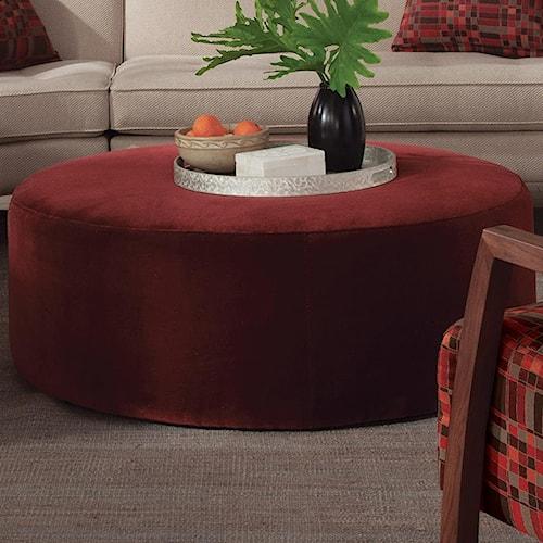 Cisco 103 Collection Contemporary Round Ottoman