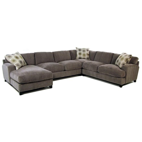 Cisco Gulliver Casual Contemporary Chaise Sectional