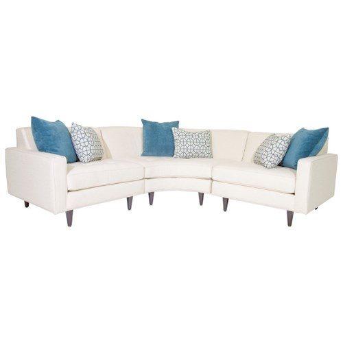 Jonathan Louis Trenton Contemporary Sectional Sofa with Tapered Legs