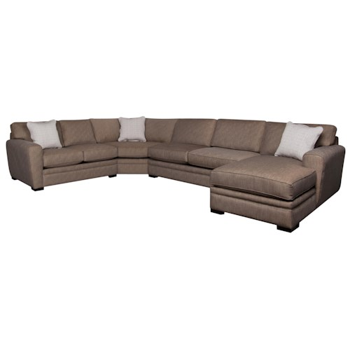 Morris Home Furnishings Lexie 4-Piece Sectional