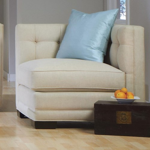 Jonathan Louis Abby Contemporary Button-Tufted Corner Chair