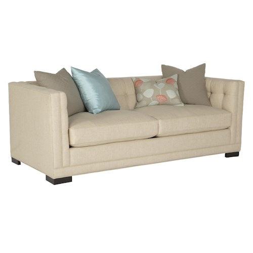 Jonathan Louis Abby Contemporary Button-Tufted Tuxedo Sofa