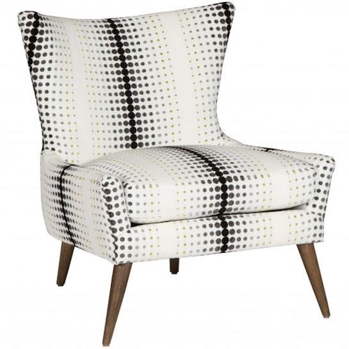 Cisco Accentuates Contemporary Mike Accent Chair with Tapered Legs