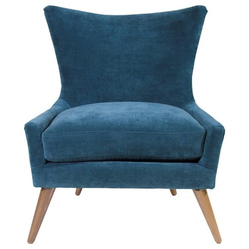 Jonathan Louis Accentuates Contemporary Mike Accent Chair with Tapered Legs