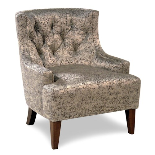 Cisco Accentuates Tufted Accent Chair