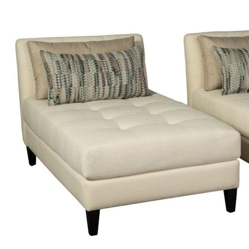 Jonathan Louis Accentuates Brooklyn Chaise with Tufted Seat