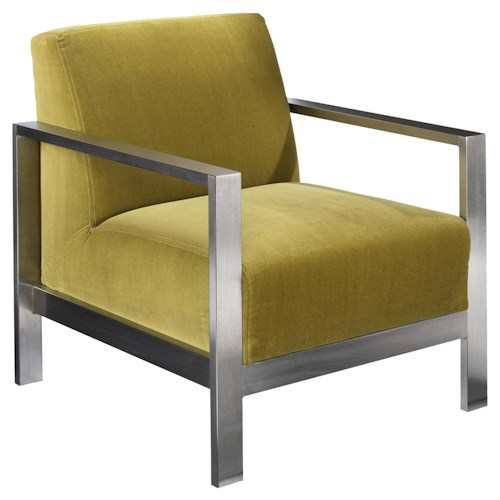 Jonathan Louis Accentuates Morrissey Metal Contemporary Accent Chair