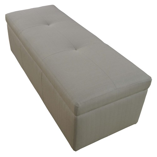 Cisco Accentuates Bogart Upholstered Storage Bench with Casters