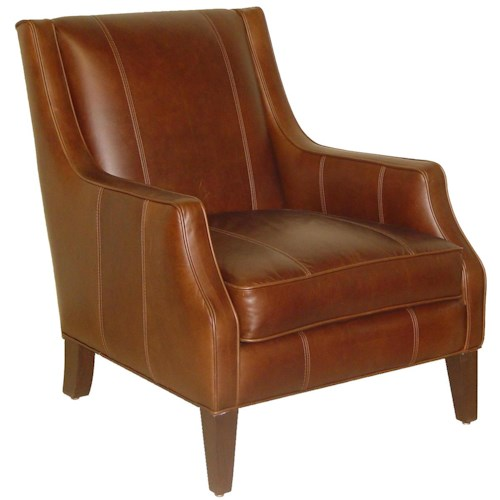 Cisco Accentuates Miles Contemporary Leather Accent Chair
