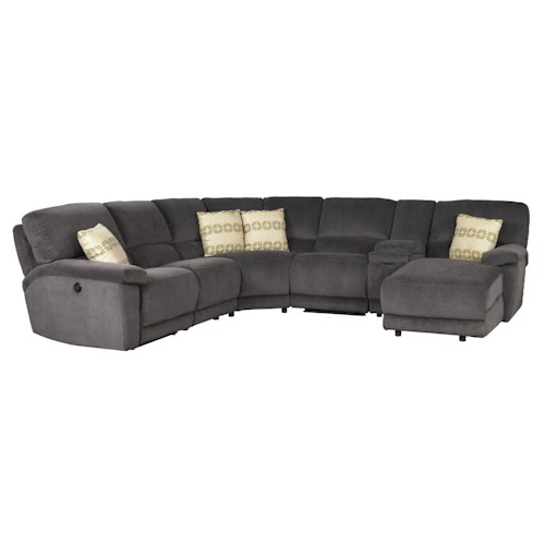 Jonathan Louis Aikman Reclining Sectional with Right-Side Chaise