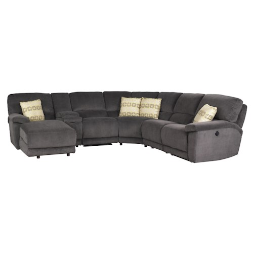 Jonathan Louis Aikman Reclining Sectional Sofa with Left-Side Chaise