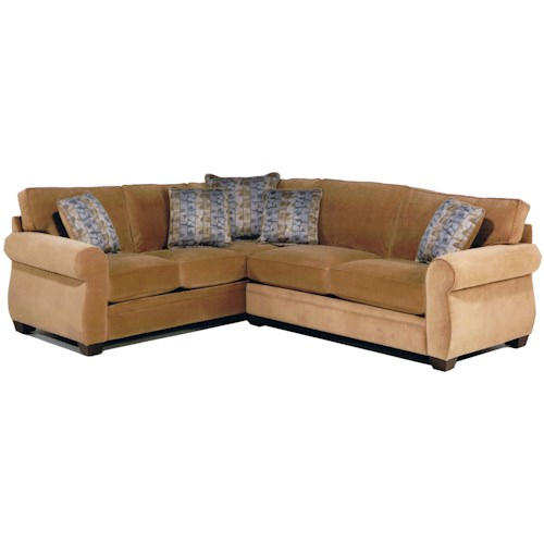 Jonathan Louis Alfred 2-Piece Stationary Sectional with Rolled Arms