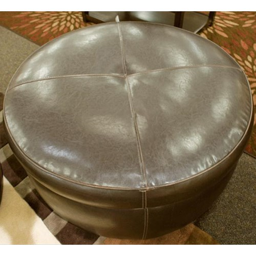 Jonathan Louis Alfred Round Cocktail Ottoman